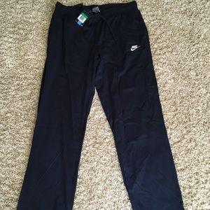 Men's Nike cotton jersey pants size xl blue